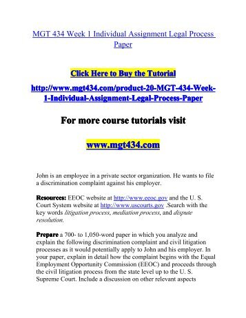 mgt 434 legal process paper Snaptutorial is a online tutorial store we provides mgt 434 week 1 individual assignment legal process paper.
