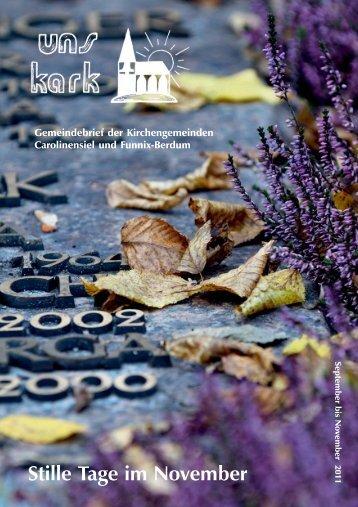 Ausgabe September bis November 201 - Ev. Kirchengemeinden ...