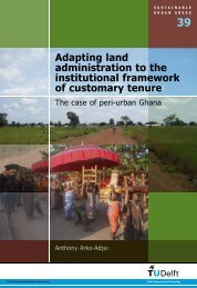 Adapting land administration to the institutional framework of - ITC