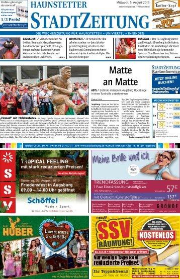 Stadtzeitung Augsburg-Haunstetten 05.08.2015