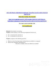ACC 422 Week 4  Individual Assignment  From The Text E11-4,E11-11,E12-6 And E12-16/Uophelp