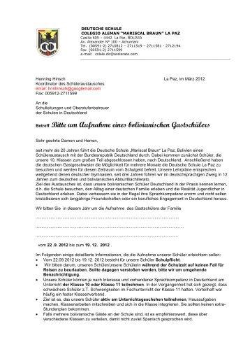 Schreiben Schule - colegio aleman