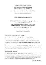 MISE A PRIX  65.000 €uros