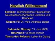Seminar : Interdisziplinäre Perspektiven - Andreas Zieger