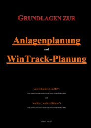 Grundlagen zur Anlagenplanung mit Wintrack - Weichen-Walter