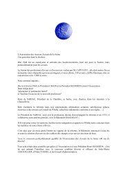 Discours prononcé le 17 décembre 2009, à l ... - Droit et Procédure
