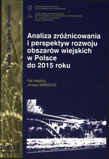 i perspektyw rozwoju obszarów wiejskich w Polsce do 2015 roku