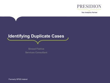 Identifying Duplicate Cases