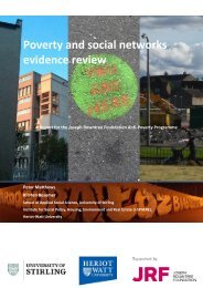 Poverty and social networks evidence review