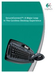 Logitech SecureConnect white paper - Get immersed in the digital ...
