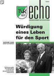 TVK-Echo 3/2000 - Turnverein 1877 eV Essen-Kupferdreh