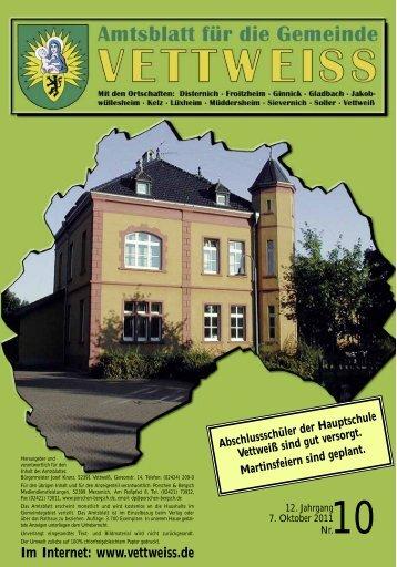 Oktober 2011 - Gemeinde Vettweiss