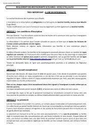 reglements restauration et periscolaire 2013/2014 - Espace-Famille