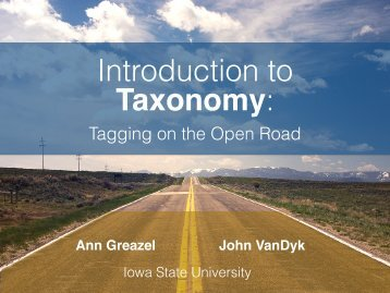Introduction to Taxonomy