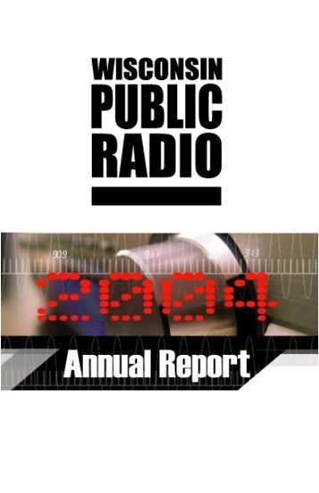 2004 Annual Report - Wisconsin Public Radio