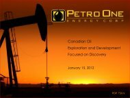 Canadian Oil Exploration and Development Focused on Discovery