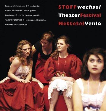 STOFFwechsel TheaterFestival NettetalVenlo - Breyell