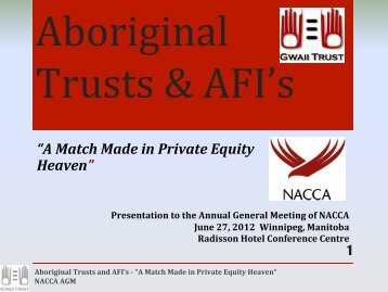 Aboriginal Trusts & AFI's