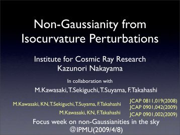 Non-Gaussianity from Isocurvature Perturbations