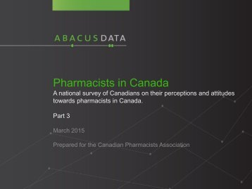 Pharmacists in Canada