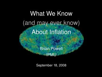(and may ever know) About Inflation