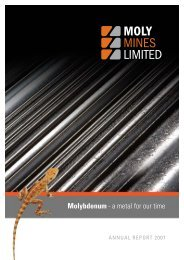Molybdenum - a metal for our time