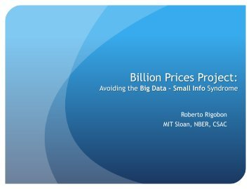 Billion Prices Project