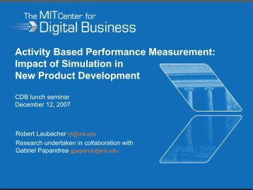 Impact of Simulation in New Product Development - MIT