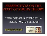 PERSPECTIVES ON THE STATE OF STRING THEORY - IPMU