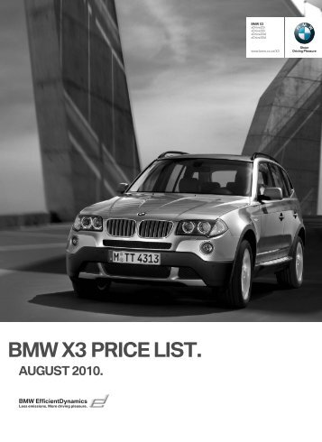 Price files (PDF) - Bmw