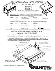 INSTALLATION INSTRUCTIONS for LIGHT BOX 20627R3 20628R3