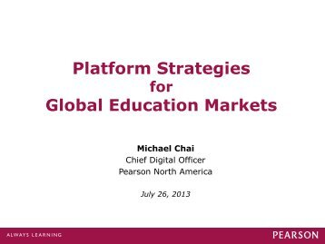 Platform Strategies Global Education Markets