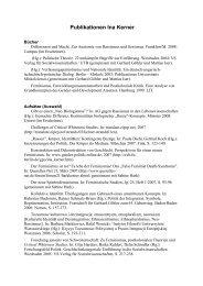Publikationen Ina Kerner - und Geschlechterforschung - TU Berlin