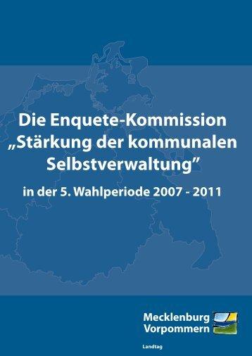 Stärkung der kommunalen Selbstverwaltung - Landtag Mecklenburg ...