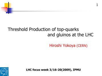 and gluinos at the LHC