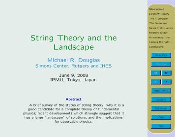 String Theory and the Landscape