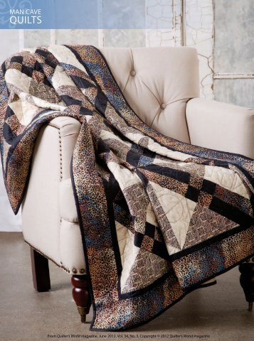 MAN CAVe quIltS - QuiltersWorld - Quilter's World