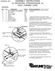 ASSEMBLY INSTRUCTIONS for MOUNTING STRAIGHTEDGE on POST FORMED TOPS