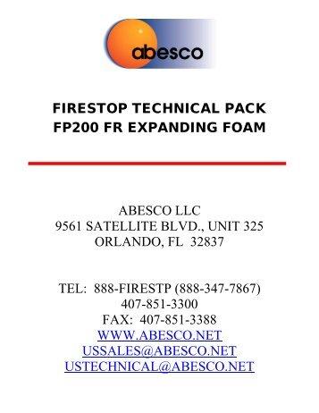 Technical datasheet Hilti Firestop Foam CFS-F FX European ...