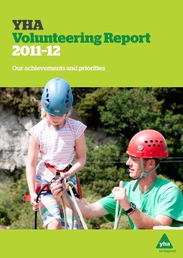 YHA Volunteering Report 2011–12