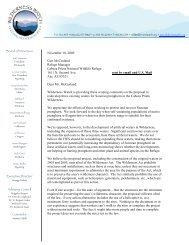 November 10, 2009 Curt McCasland Refuge ... - Wilderness Watch