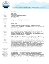 1 June 11, 2011 Sidney Slone Refuge Manager ... - Wilderness Watch