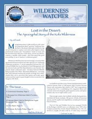 June 2008 - Wilderness Watch