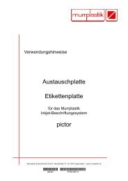 pictor Aufnahmebolzen (1 Satz = 2 Stück) - Murrplastik Systemtechnik