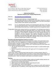 Specimen Collection and Transport Requirements - Nebraska ...