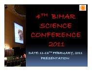 4 BIHAR SCIENCE CONFERENCE 2011