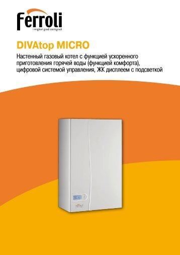 Ferroli DIVA C24 Instructions For Use, Installation And Maintenance Ferroli