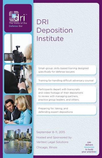 DRI Deposition Institute