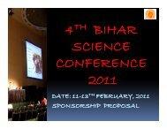 4 BIHAR SCIENCE CONFERENCE 2011 - Bbscindia.com