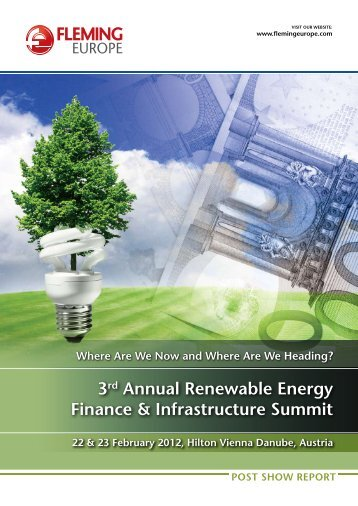 3rd Annual renewable energy Finance & infrastructure summit